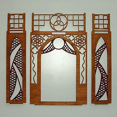 DAMASU Bastelsatz gotische Pyramide Einzelteile Etage 5
