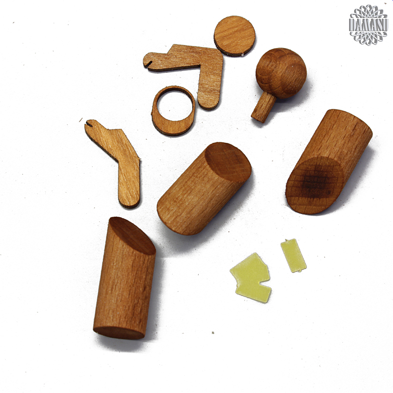 Modellbau aus Holz Pferdekutsche