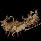 Fuhrwerk Kutsche Weihnachtsmanntroika