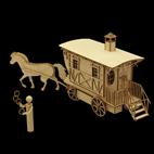 Fuhrwerk Kutsche Zigeunerwagen