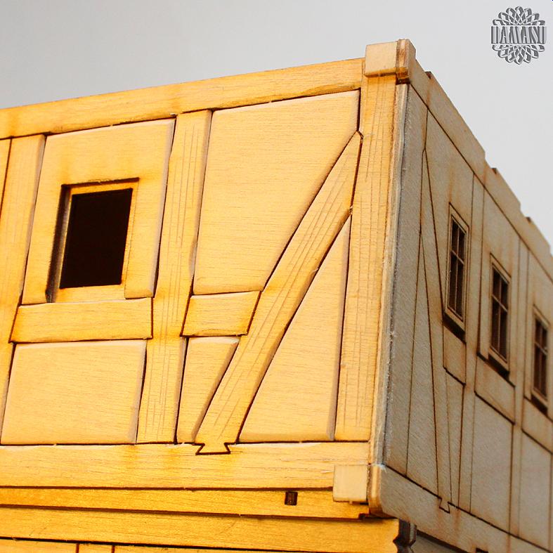 DAMASU-Info-Blog: Bastelanleitung Umgebindehaus