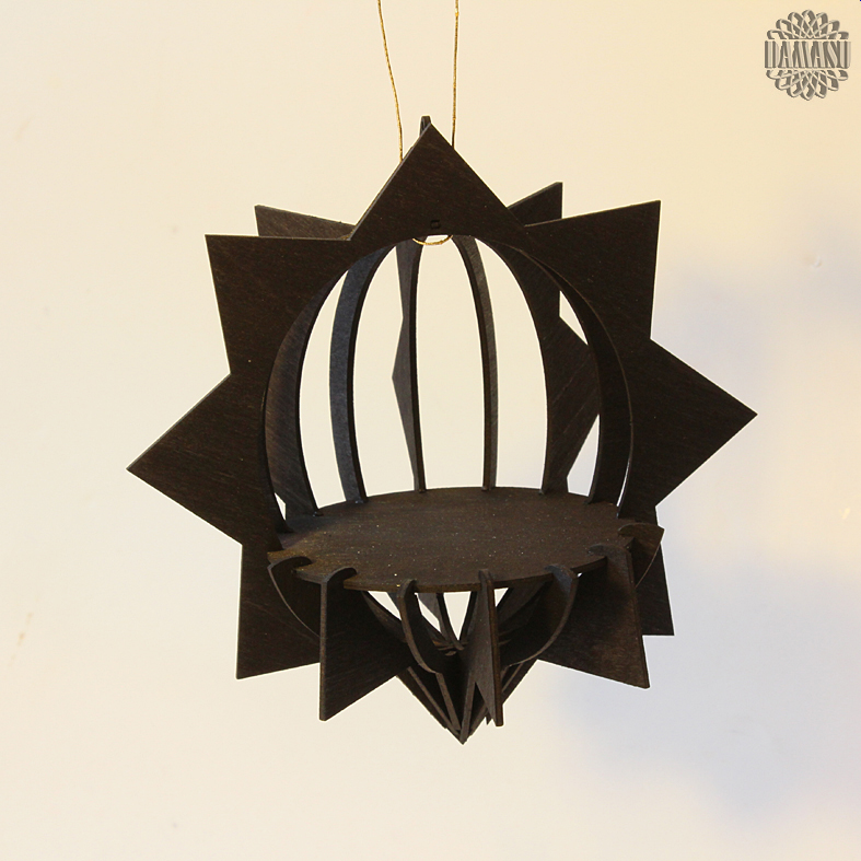 schwarzer stern bausatz deko 3d baumbehang bs 3dbbh36. Black Bedroom Furniture Sets. Home Design Ideas