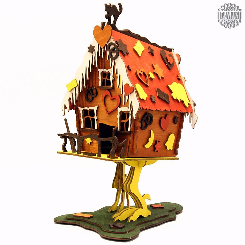 hexenhaus farbig grosz bausatz raeucherfiguren hexenhaus bs rh115. Black Bedroom Furniture Sets. Home Design Ideas