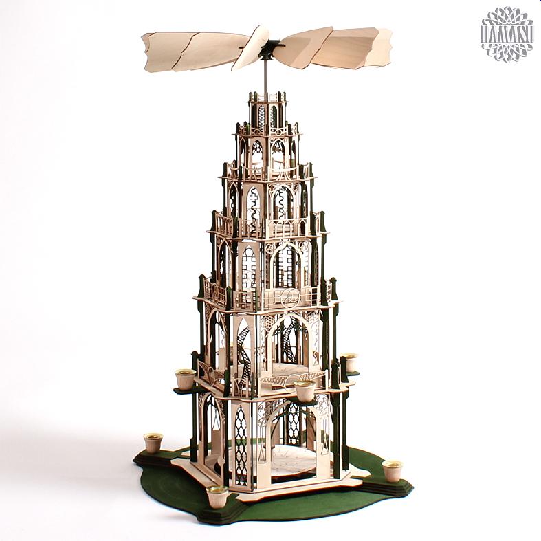 pyramide 5stoeckig bausatz pyramiden gotisch bs pyg5gn. Black Bedroom Furniture Sets. Home Design Ideas