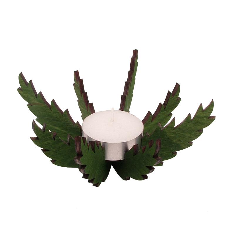 Teelichthalter Tannenzweige natur
