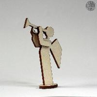 Als Figuren für Ihre Bastelarbeit oder zur Bestückung für eine vierstöckige Pyramide gibt es den Holzbausatz - <strong>Schutzengel</strong>