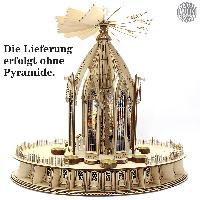 <br>Ein Zusatzbausatz für Ihre Weihnachtspyramide Kapelle - der Adventskalender-Unterbau!<br><br><br>Der Unterbau beherbergt 24...