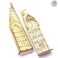 Mit diesem Bausatz können Sie zwei Doppeltüren für eine Weihnachtspyramide Kapelle aufbauen.