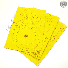 Dieses zauberhafte <strong>Osterei</strong> zum selber basteln in gelb ist als <strong>Fensterbild</strong> ein wahrer Blickfang
