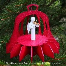 Diese schöne <strong>Weihnachtsglocke</strong> ist ein Holzbausatz aus der Manufaktur DAMASU und eine Zierde für Ihren <strong>Weihnachtsbaum</strong>