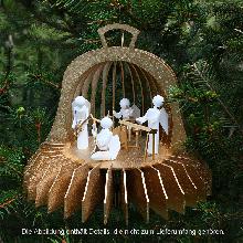 Holzbausatz <strong></strong>Fensterbild <strong>Weihnachtsglocke</strong> in 3D Optik aus der Manufaktur DAMASU